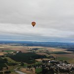 Vista Balloon floating over Oregon wine country