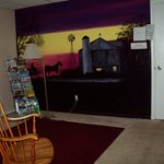 i Wall mural in the adult lounge