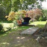 Husband enjoying the swing!