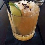 Rum sour cocktail