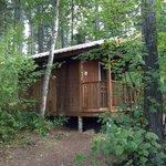 Outside cabin 1