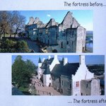 Chinon Chateau/Fortress : Before and After : page within children's booklet