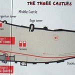 Chinon Chateau/Fortress : map in children's booklet
