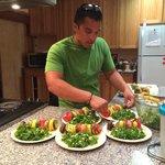 Michael makes dinner!