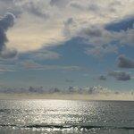 La vista dalla spiaggia