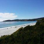 The beautiful view of Carmel Beach