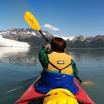 Kayaking out to the glacier.