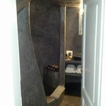 Kalypso room's bathroom with cave shower
