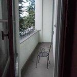 Small private balcony