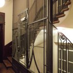 Winding staircase and old-fashioned lift