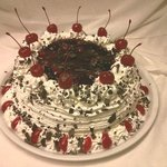 Delicious homemade black forest cake.