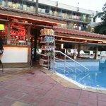 Pool bar at evening