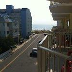Beach view from balcony (premium view room)