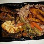 Jerk Chicken Dinner with Rice & Peas