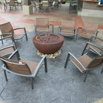 fire pit with LOW chairs