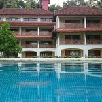 View of the hotel from pool side