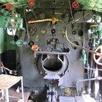Inside Old steam locomotive