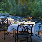 Dining Creekside at L'Auberge Restaurant