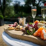 Canapes on the River Terrace