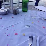 Knowing it was our wedding anniversary, the staff made an effort with the table.