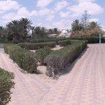 Le parc de l'hôtel