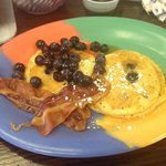 Blue Berry Pancakes from the m-f menu