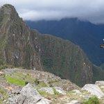 Me animé a subir al Huayna Picchu, la montaña aledaña.