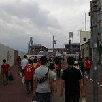Carp fans heading to the stadium
