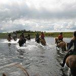 at krydse en flod til hest er en oplevelse