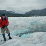 Crossing Nizina Glacier
