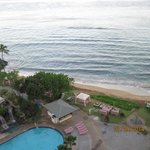Partial view of pool & beach from room