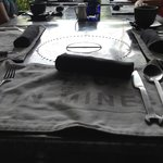 Funky place settings and cutlery
