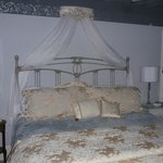 The bed in one of the rooms