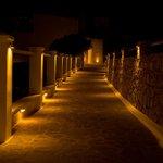 Hotel entry at night