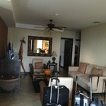 Living room at the condo