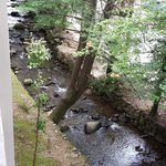 View from third floor creekside balcony.