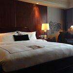 Comfy bed in large, quiet, elegant room