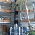 El interior del hotel