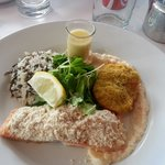 Salmon with Wild Rice