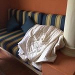 This is how the comforter was left in our room after housekeeping.