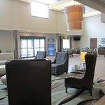 Bright airy lobby