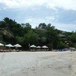 beach shared with six senses hotel