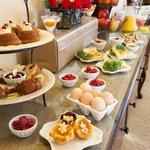 Elegant farm to table breakfast buffet