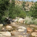 Water in stream in Catalina State Park, August 2014