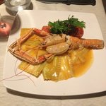 Ravioli with prawns - amazing