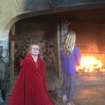 Tudor roasting fire in kitchen