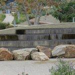 Fountain in Tongva Park.