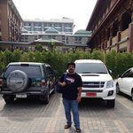 At Parking area