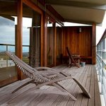The private deck of one of the Fynbos Cottages
