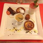 Café gourmand a 8,50 €. Ici inclut avec le menu bistrot